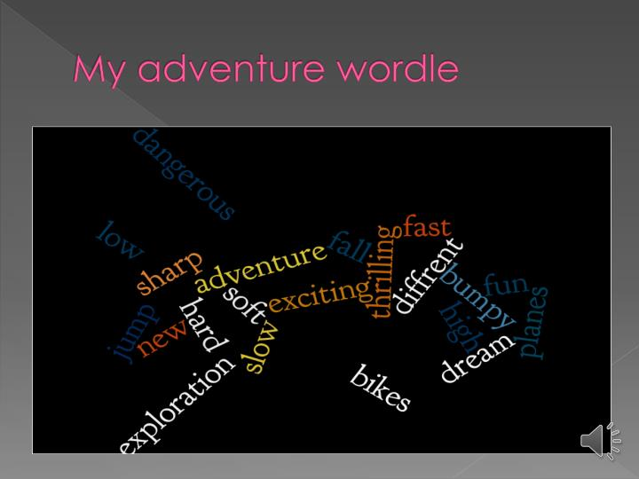 My adventure wordle