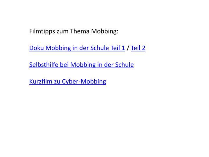 Filmtipps zum Thema Mobbing: