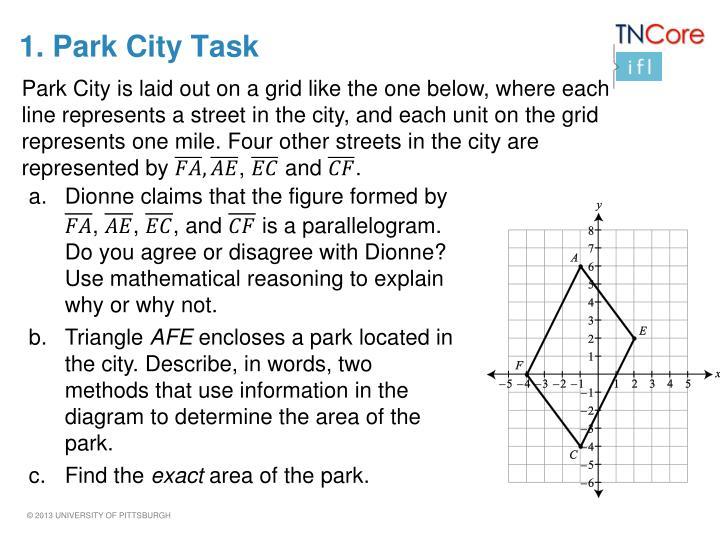 1. Park City Task