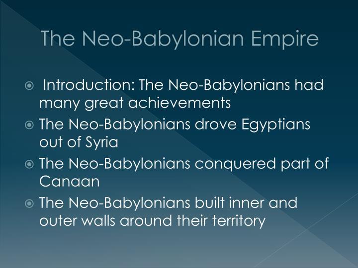 The Neo-Babylonian Empire