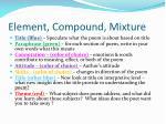 element compound mixture
