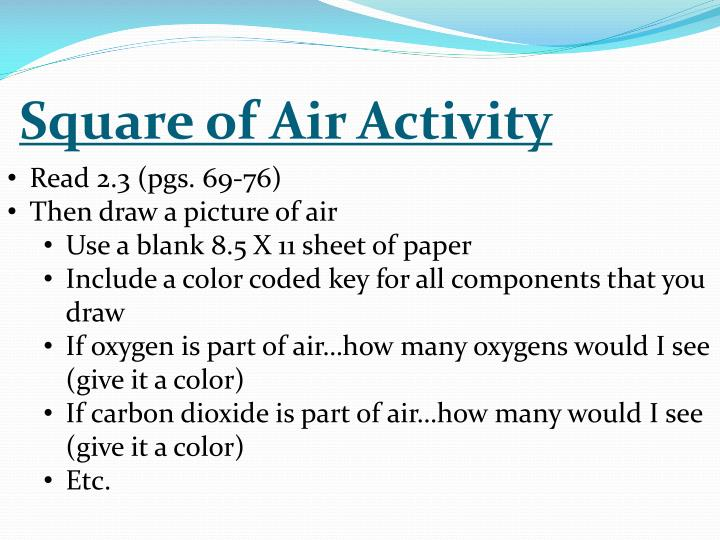 Square of Air Activity