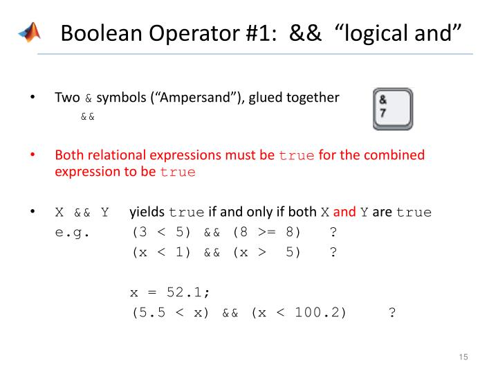Boolean Operator #1: