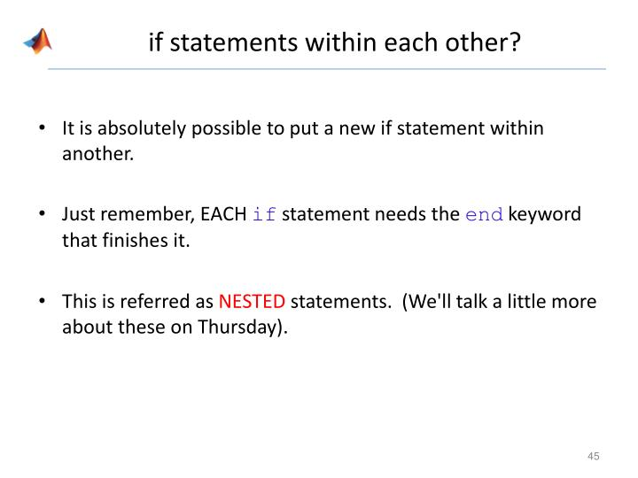 if statements within each other?