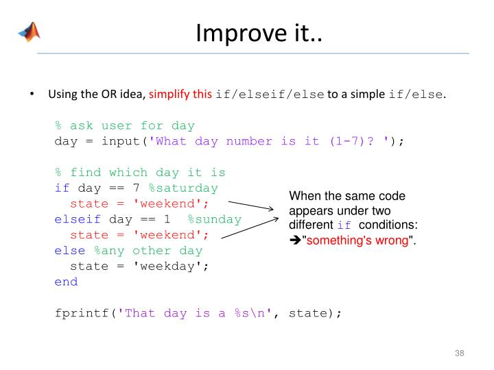 Improve it..