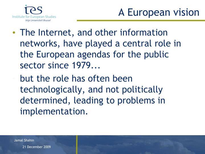 A European vision