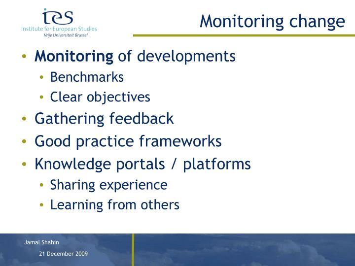 Monitoring change