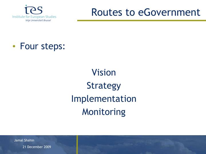 Routes to egovernment