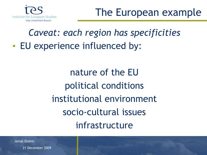The European example