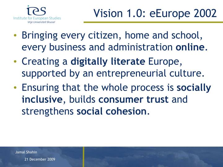 Vision 1.0: