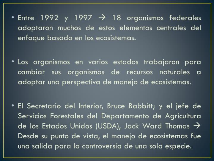 Entre 1992 y