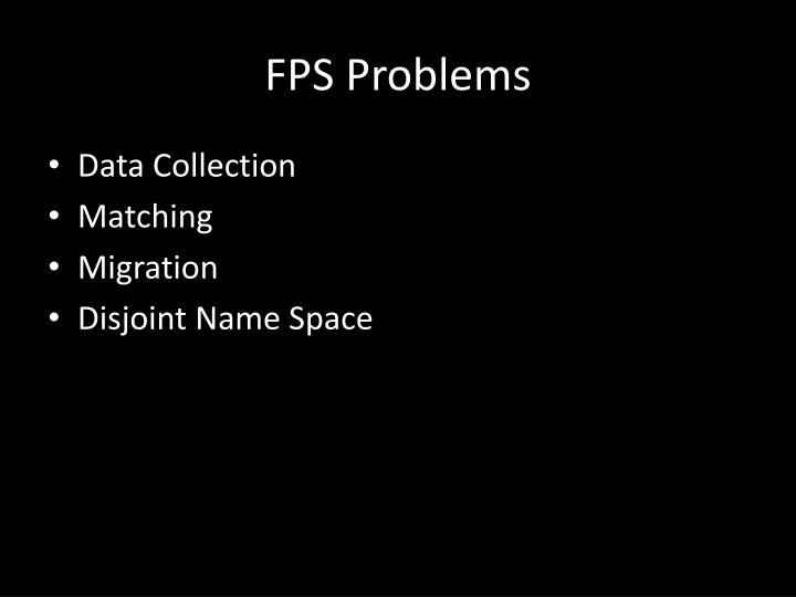 FPS Problems
