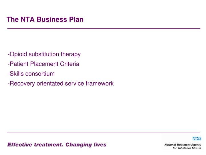 The NTA Business Plan