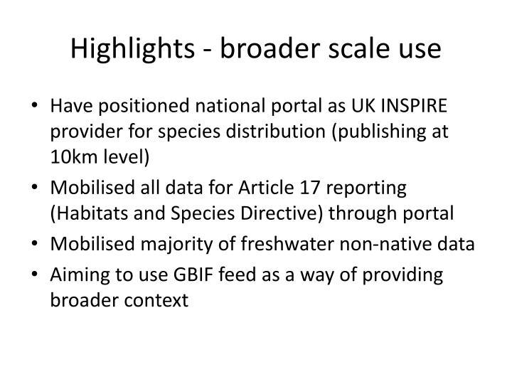 Highlights - broader