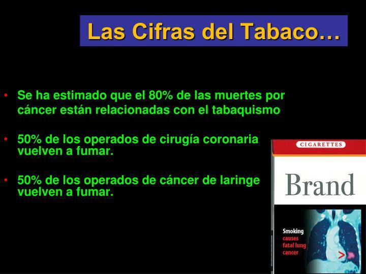 Las Cifras del Tabaco…