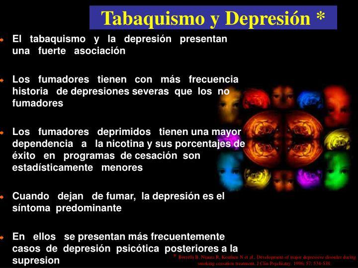 Tabaquismo y Depresión *