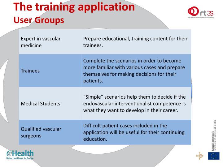 The training applicatio