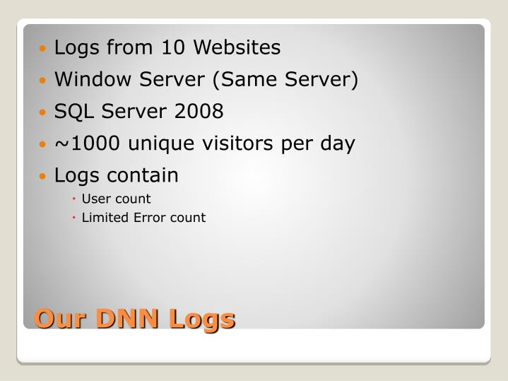 Logs from 10 Websites