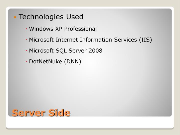 Technologies Used