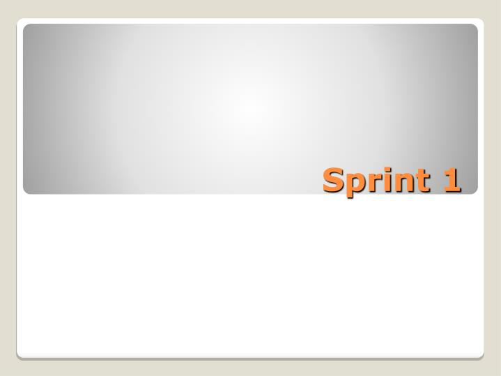 Sprint 1
