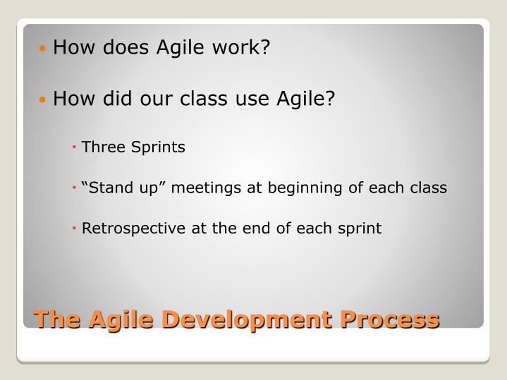 How does Agile work?