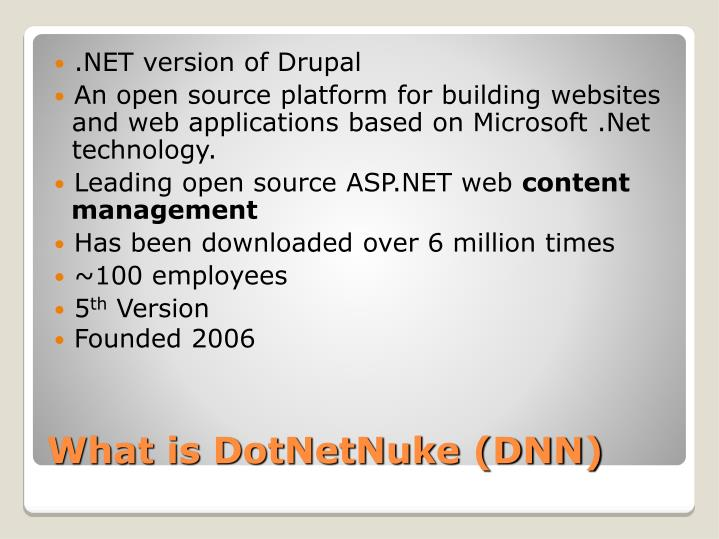 .NET version of Drupal