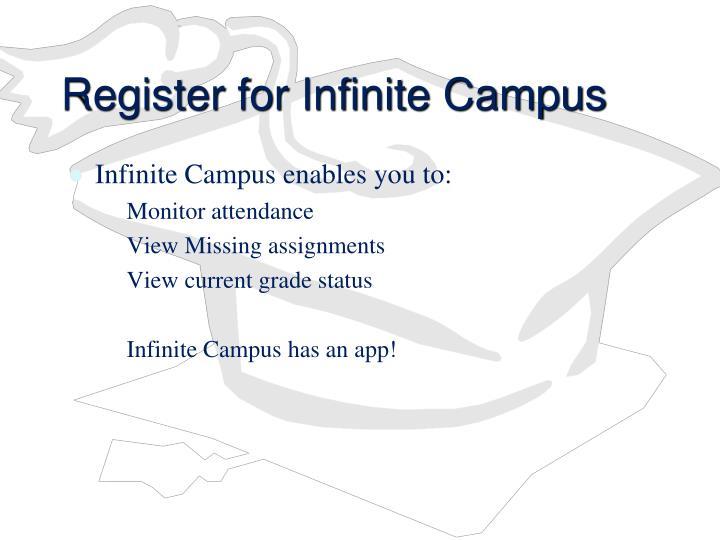 Register for Infinite Campus