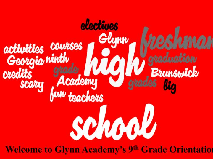 Welcome to Glynn Academy's 9