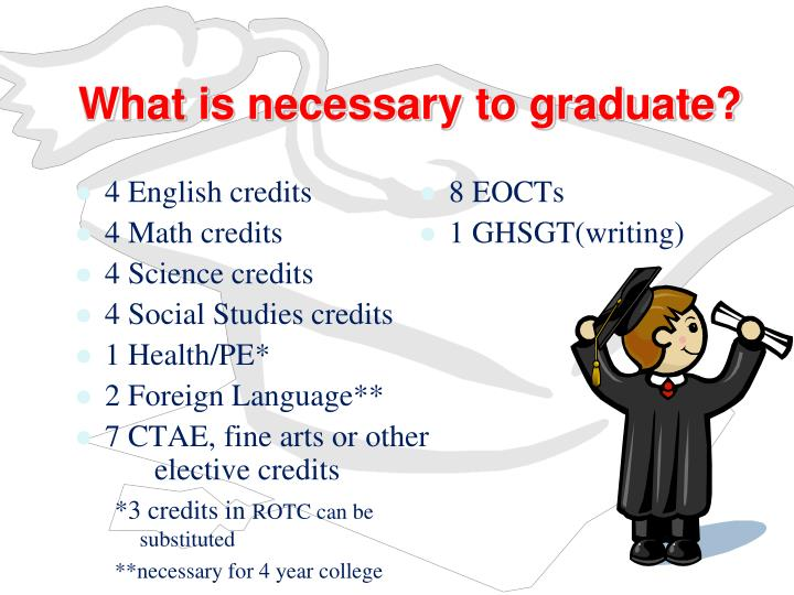 What is necessary to graduate?