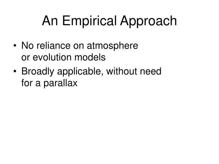 An Empirical Approach