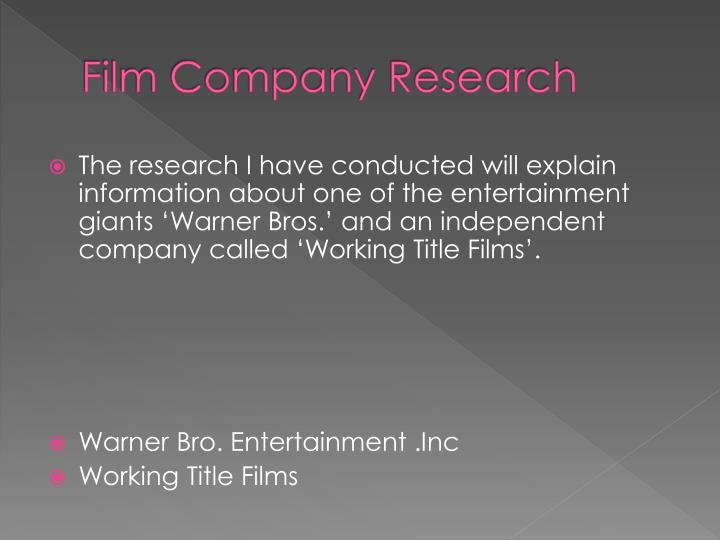 Film company research