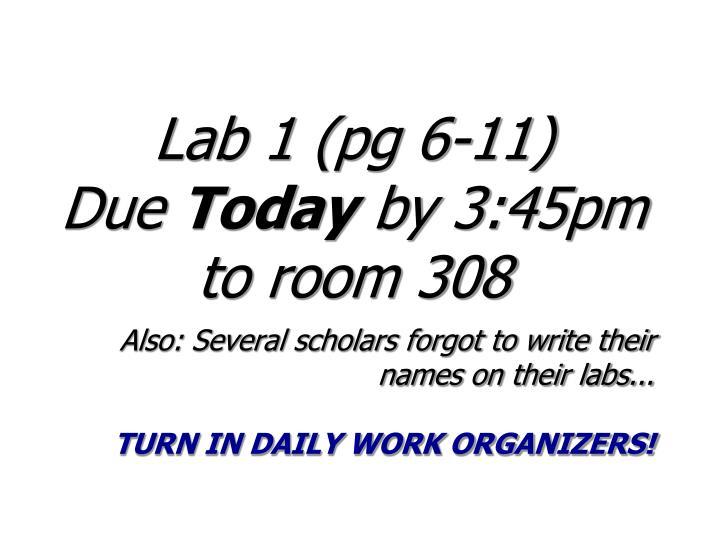Lab 1 (