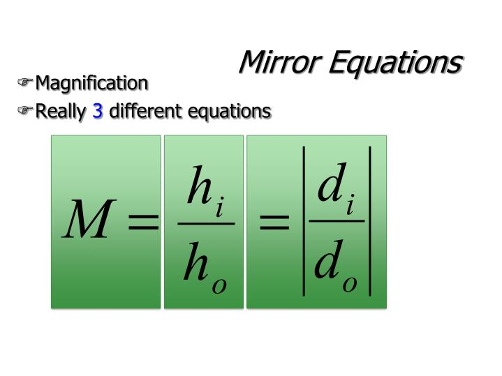 Mirror Equations