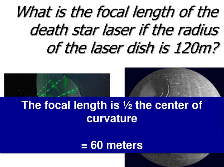 What is the focal length of the death
