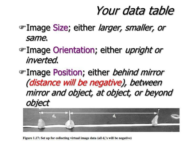 Your data table