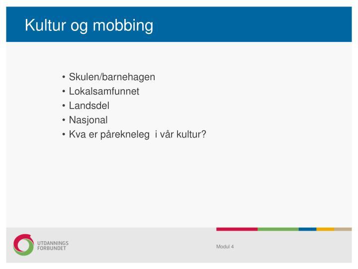 Kultur og mobbing