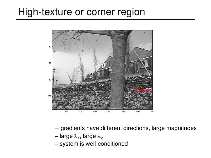 High-texture or corner region