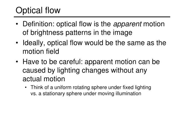 Optical flow
