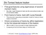 shi tomasi feature tracker