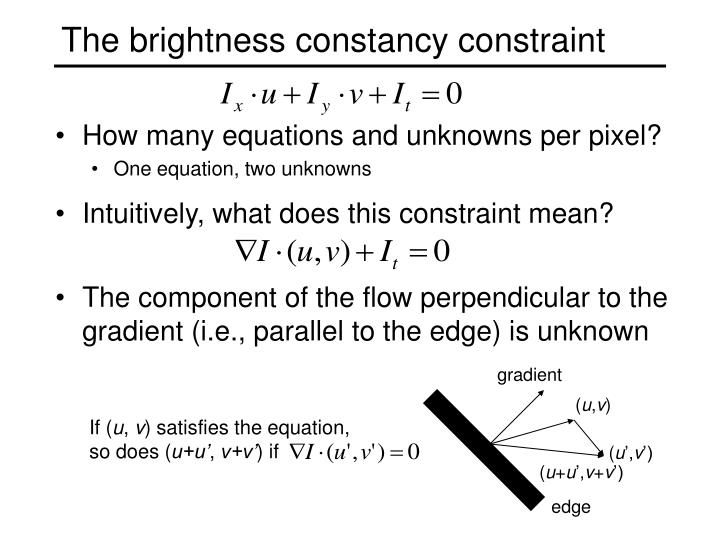 The brightness constancy constraint
