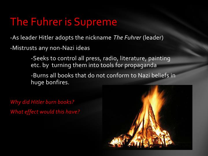 The Fuhrer is Supreme