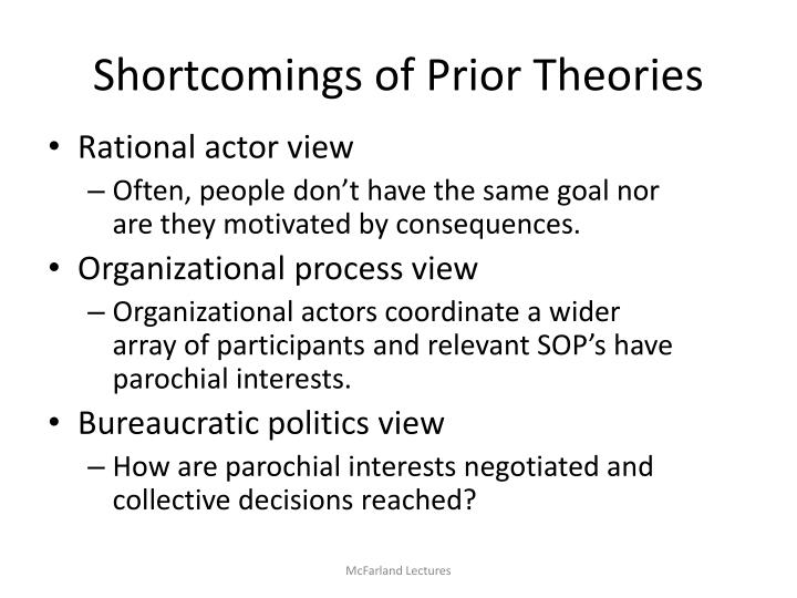 Shortcomings of Prior Theories