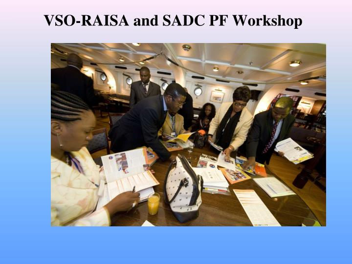 VSO-RAISA and SADC PF Workshop