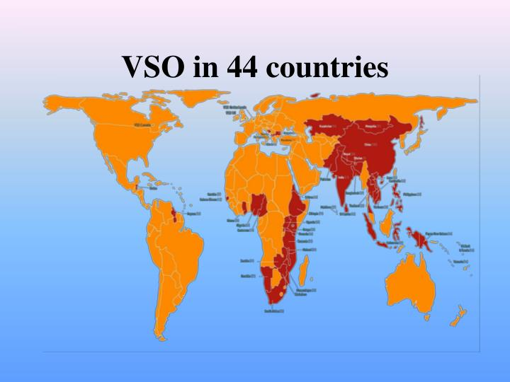 VSO in 44 countries
