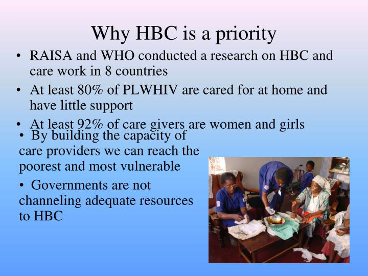 Why HBC is a priority