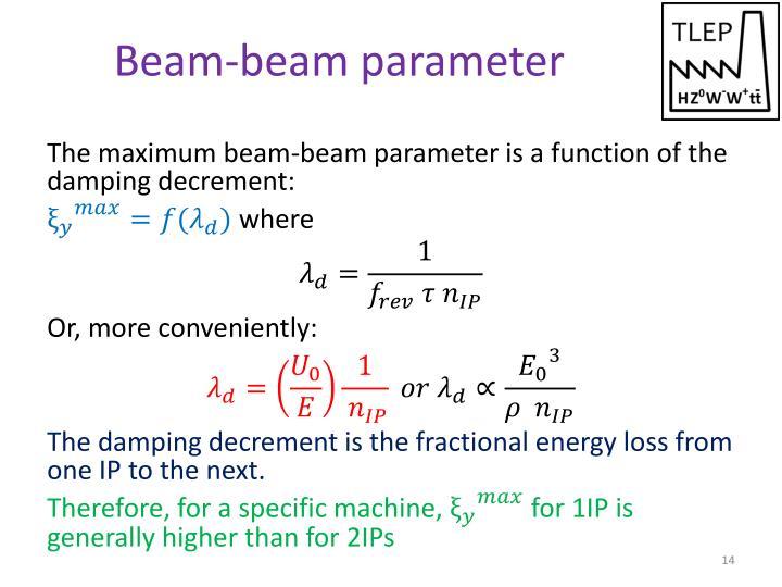 Beam-beam parameter