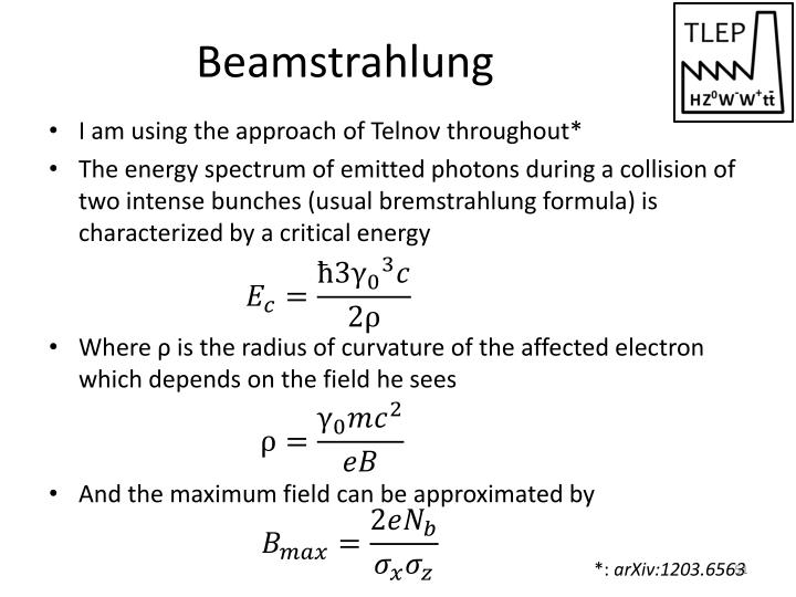 Beamstrahlung