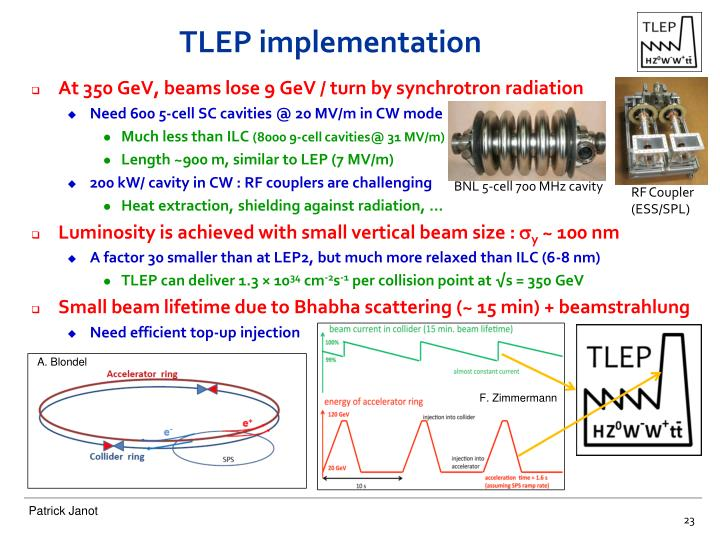 TLEP implementation