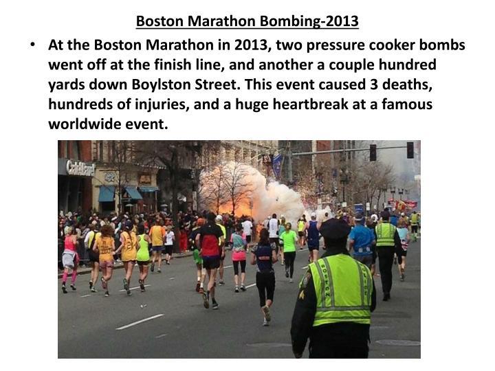 Boston Marathon Bombing-2013