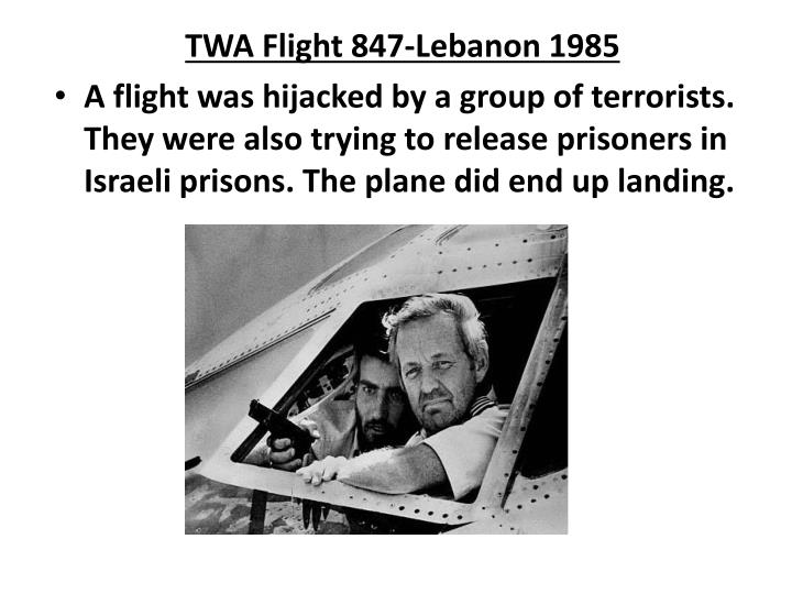 TWA Flight 847-Lebanon 1985